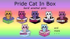 LGBTQ/Pride Cat In A Box by Serendia Frost — Kickstarter Warcraft Art, Cat Pin, Hard Enamel Pin, My Design, Product Launch, Kawaii, Early Bird, Bisexual Pride, Lgbt