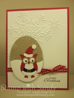 Stamp With Sandy: Merry Christmas from Santa Owl