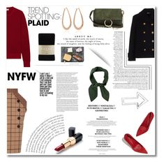 """""""Win It! NYFW Trend Spotting: Plaid"""" by nina-lala ❤ liked on Polyvore featuring Frame, Miu Miu, Chloé, Ultimo, Falke, Sparq, contestentry and NYFWPlaid"""