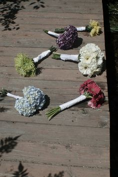 Jessica Yakos Photography.  The wedding party's bouquets