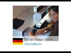 Video: Reißverschluss in Hose nähen - Nähen lernen mit Zierstoff
