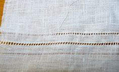 California Stitching: Hemstitching and Lace