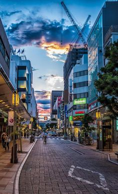 End of a Day, Shizuoka, Japan Shizuoka, Aesthetic Japan, City Aesthetic, City Wallpaper, Scenery Wallpaper, Street Photography, Landscape Photography, Go To Japan, Japan Japan