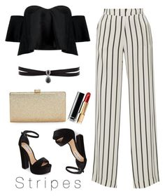 """Stripes"" by soffirodriguez on Polyvore featuring Boohoo, Asceno, La Regale, Steve Madden, Fallon and Chanel"