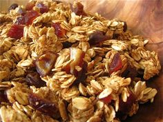 Maple Date Granola  I also add pecans or almonds ...