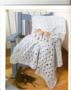 AS RECEITAS DE CROCHÊ: Manta de bebê - pap