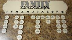 Family Birthday Calendar by SAshleyHarvey on Etsy, $38.00