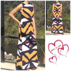 """Singapore Dress Stunning elegance is what this dress shouts out!!  A personal favorite!  Has hidden zipper in the back with hook closure.  Material is 100% rayon.  Elastic waist.  Will add dimensions.  Model is wearing a small 5'7"""". Dresses"""