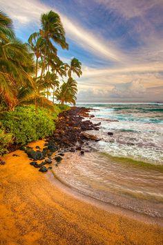 Hidden Beach near Poipu, Kauai, Hawaii