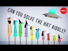 """In a TED-Ed video """"Can you solve the prisoner hat riddle?"""" Alex Gendler gives a logical solution to the enigmatic prisoner hat riddle. The prisoners in Fun Math, Math Games, Trivia Games, Maths, O Enigma, 21st Century Skills, Logic Puzzles, Mobile Learning, Math Teacher"""