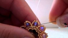 """Emozione "" Earrings ~ Seed Bead Tutorials"