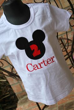 Personalized Mickey Mouse Shirt by sewglamourouscreatio on Etsy, $20.00