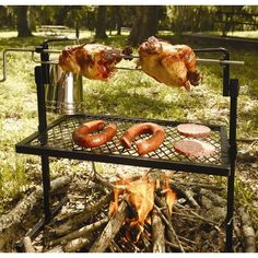 New Campfire Rotisserie Grill BBQ Spit Fire Pit Camping Outdoor Stove Barbecue Best Camping Gear, Camping Hacks, Camping Stuff, Camping Recipes, Camping Cooking, Camping Essentials, Walmart Camping, Camping Hammock, Camping Equipment