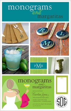 Theme Party Thursday: Monograms & Margaritas Bridal Shower | Polka Dot Design Blog: Ideas, Inspiration & Invitations