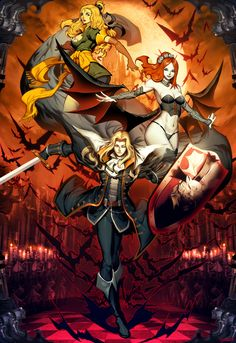 This image was done time ago for a videogame expo. Castlevania is one of my favorite series ever. My favorite one is Super Castlevania IV, but Symphony of the night won a special place in my heart,...