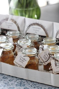 Cinna-Bun Butter Cakes in a Jar + Cookies in a Paper CD holder. Recipe and packaging concept.