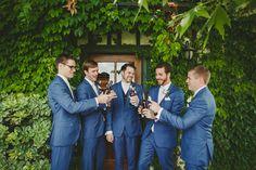 Groomsmen cheersing at Temecula wine country venue Ponte