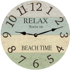 Hey, I found this really awesome Etsy listing at https://www.etsy.com/listing/236323194/relax-beach-time-clock