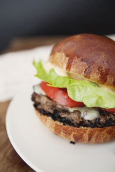 Mushroom Black Bean Burger with Chipotle Aioli