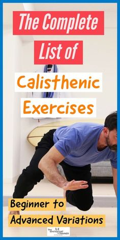 The Complete List of Calisthenic Exercises [Beginner to Advanced] - The White Coat Trainer - This post covers all of the calisthenic exercises you need to get a comprehensive full body workout - Calisthenics Workout Routine, Sixpack Workout, Workout Routines, Workout Plans, Workout Fitness, Calisthenics Workout At Home, Beginner Bodyweight Workout, Calisthenics Beginner, Calisthenics Women
