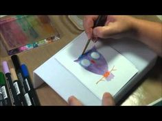 Love this video!! Libby Hickson shows how to use a stamp on a lightbox and watercolor it in to look like you painted the image. I will be trying this soon!