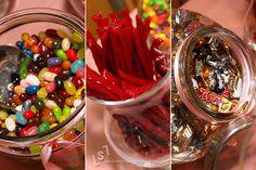 Wedding Candy Bar by asofterimage, via Flickr Candy Bar Wedding, Cherry, Fruit, Food, Wedding Candy Bars, Essen, Meals, Prunus, Yemek