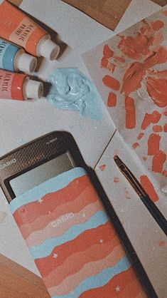 vsco style calculator, made with acrylic paint. Cute Canvas Paintings, Easy Canvas Art, Small Canvas Art, Mini Canvas Art, Acrylic Painting Canvas, Diy Painting, Diy Canvas, Aesthetic Painting, Aesthetic Art