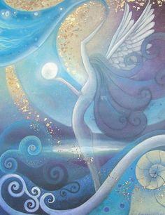 "amanda clark artist | mystical art print titled Angel by Amanda Clark"" on Etsy For me ..."