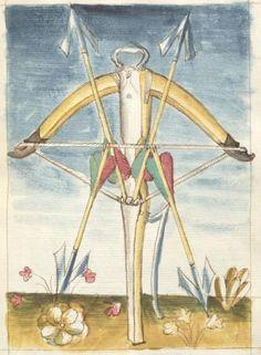 Bellifortis VerfasserKyeser, Conradus  ErschienenElsaß, [um 1460] Ms. germ. qu. 15  Folio 154r