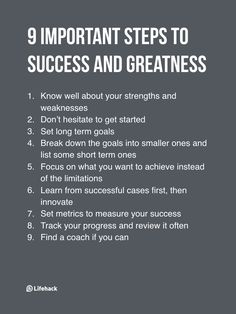 Success isn't about luck or that abstract, success is about a list of concrete steps...