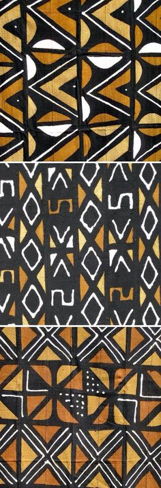 Mud cloth textiles by Ananse Village (via unruly-things). Ethnic Patterns, Textile Patterns, Textile Design, Fabric Design, Japanese Patterns, Floral Patterns, African Patterns, Design Art, African Textiles