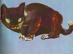 beautiful cat by children's illustrator Brian Wildsmith