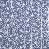 Tissu coton origami bleu
