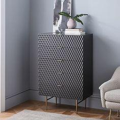 Audrey 5-Drawer Dresser - Charcoal #westelm