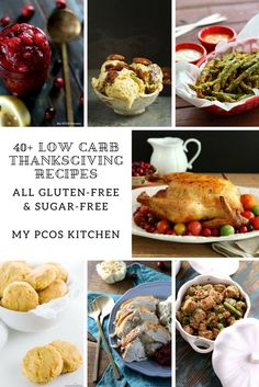 40+ Low Carb Thanksgiving Recipes - My PCOS Kitchen - All gluten-free and sugar-free recipes that are low carb and perfect for Thanksgiving or Christmas! #lowcarb #keto #glutenfree #thanksgiving #sugarfree via @mypcoskitchen