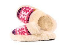 Original scandinavian slide slippers in neon pink ! Healthly, natural and comfortable ! Sheepskin ! Super price !