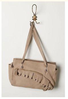 Anthropologie Miss Albright Leather Half Arc Bag