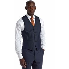 Savile Row Navy Slim Navy Suit Separate Vest (98 BRL) ❤ liked on Polyvore featuring men's fashion, men's clothing, men's outerwear, men's vests, navy, mens slim vest, mens slim fit vest, mens vests outerwear, mens vest and mens navy vest