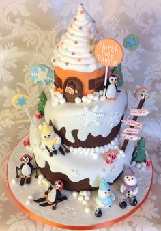 Three Tier Chocolate Christmas cake