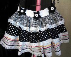 Vestido De Festa Junina e Saia p mamãe