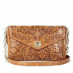 awesome laser cut clutch from Sole Society