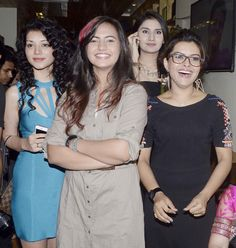 Sukriti Kandpal, Meera Deosthale, Monica Sharma and Shilpa Raizada at the review of new telly show 'Dilli Wali Thakur Girls'. #Bollywood #Fashion #Style #Beauty Bollywood Photos, Bollywood Fashion, Today Episode, Fashion Figures, Crop Top Outfits, Celebs, Celebrities, Actress Photos, Desi
