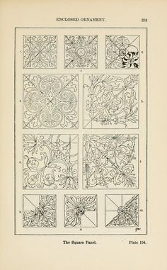 A handbook of ornament ~ square panel