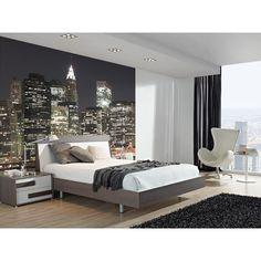 Collection I Love NewYork Condo Bedroom, Bedroom Murals, Dream Bedroom, Bedroom Decor, Wall Murals, Small Apartment Interior, Apartment Furniture, Home Furniture, Bedroom Wallpaper City