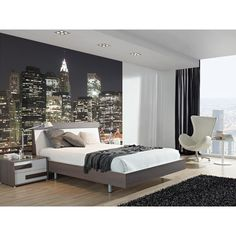 NY CITY LIGHTS MURAL - #Bloompapers #Wallpapers #Home #Deco #Mural #NewYork