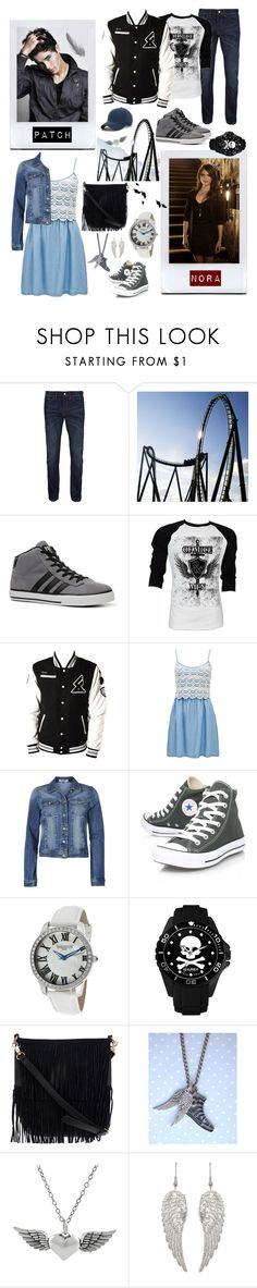 """""""my shadow's the only one that walks beside me / my shallow heart's the only thing that's beating / sometimes I wish someone out there will find me /till then I walk alone"""" by lifeinpictures ❤ liked on Polyvore featuring Topman, adidas, Retrò, Forever New, ONLY, Converse, Lancaster Italy, Haurex, Urban Originals and Tressa"""