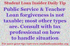 For more tips about repayment plans, taxes, enrollment information, deferments & forbearances and more visit www.studentloaninsider.org