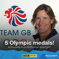 Katherine Grainger has just become Team GB's most successful female Olympian of all time after winning a silver in the rowing!  #rio2016