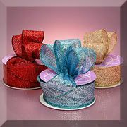 Glitter Wired Ribbons