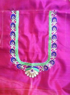 Best Blouse Designs, Simple Blouse Designs, Sari Blouse Designs, Bridal Blouse Designs, Hand Embroidery Design Patterns, Hand Work Embroidery, Machine Embroidery Designs, Hand Designs, Flower Designs